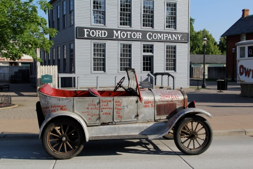 Silver Streak in front of first Ford Motor Company Building at Greenfield Village