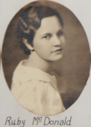 Ruby McDonald Senior Class Picture, Bradford High School, 1933