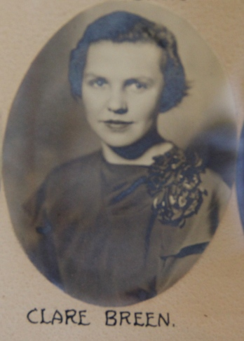 Clare Breen graduated from Bradford High School in 1934, in the same class as Helen Fuertges.