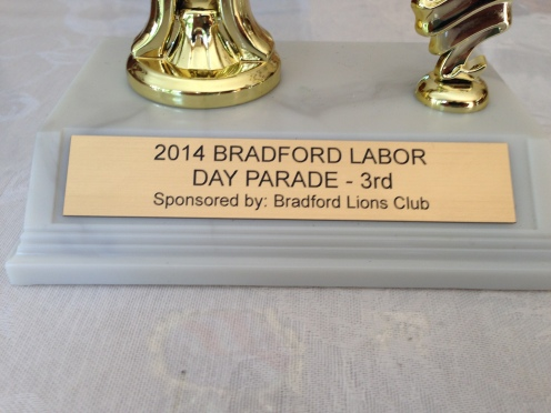 Thank you Bradford Lions Club