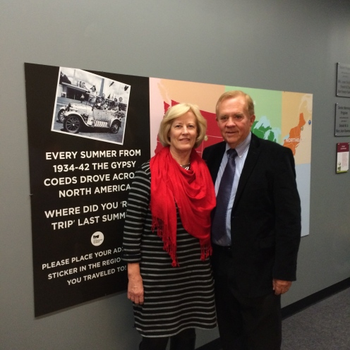 Kathie and Bruce Blakkan at the Peoria Riverfront Museum for the exhibition,