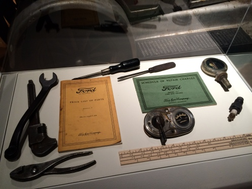 Model T Tools and accessories on loan from Ron Dupree