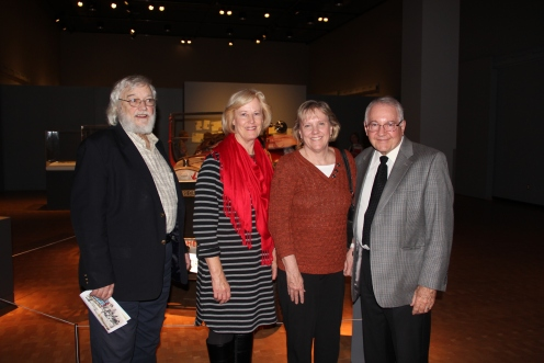 Gypsy Coed descendants at the Peoria Riverfront Museum, Bernie Hickey, Kathie Blakkan, Rosemary Hickey Welch, and Denny Hickey. Kathie is the daughter of Darlene Dorgan Bjorkman. Bernie, Rosemary and Denny are the children of Helen Fuertges Hickey.