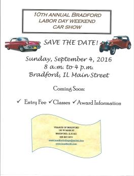2016 Bradford Car Show